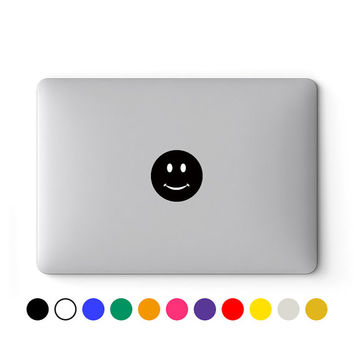 MacBook Decal | MacBook Sticker | Laptop Decal | Laptop Sticker | MacBook Air Pro Retina Touch Bar 11 12 13 15 17 inch | Smiley Face