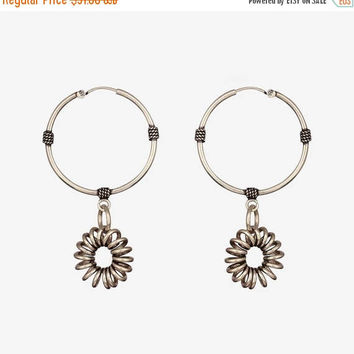 Spring Sale Spiral Circular_Sterling Silver Earrings_Silver Earrings_Silver Long Earrings_Handmade Silver Hoop Earrings_Handmade Silver_Silv