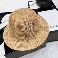 GUCCI New fashion weave couple straw hat