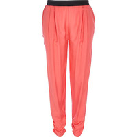 River Island Womens Coral joggers
