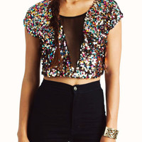 cropped-sequin-top BLACKPINK - GoJane.com