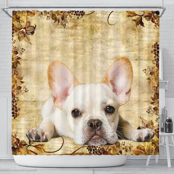 Amazing French Bulldog Print Shower Curtains-Free Shipping