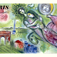 1965 Chagall Paris Opera by Marc Chagall Fine Art Print