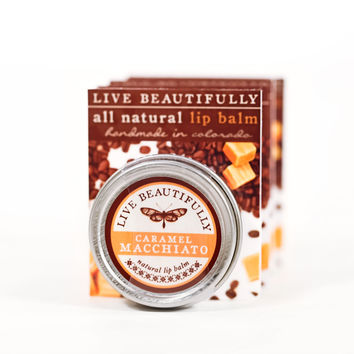 Caramel Macchiato - All Natural Lip Balm Tin