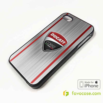 DUCATI 2 Motorcycle Logo iPhone 4/4S 5/5S 5C 6 6 Plus Case Cover