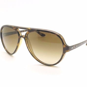 Ray Ban RB 4125 710/51 59mm Cats 5000 Havana Gradient New Authentic Sunglasses
