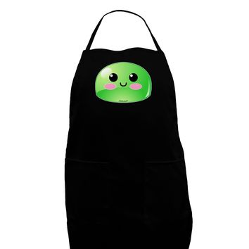 Cute RPG Slime - Green Dark Adult Apron by TooLoud