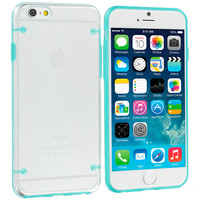 Baby Blue Crystal Transparent Hybrid Hard TPU Case Cover for Apple iPhone 6 Plus (5.5)