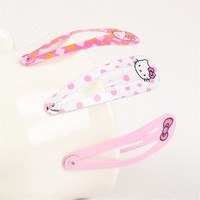 Fashion Hello Kitty Hairpin Women Hair Clip Bow Barrette Solid Red Hairpins Hairgrip Candy Girls Metal Jewelry Hair Accessories