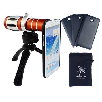 High-end 20x Zoom Telephoto Telescope Lens Kit For Samsung Galaxy S6 S7 edge Plus note 2 3 4 5 Tripod Phone Cases Camera Lenses