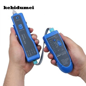 kebidumei Newest RJ11 RJ45 Cat5 Cat6 Telephone Wire Tracker Tracer Toner Ethernet LAN Network Cable Tester Detector Line Finder