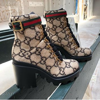 Gucci Thick and short boots