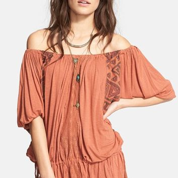 Women's Free People 'New World' Off the Shoulder Butterfly Tunic,