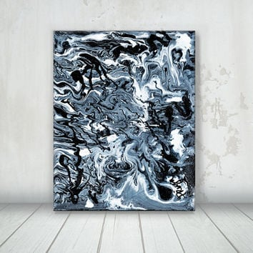 Abstract Giclee canvas art print. Black and white Abstract painting. Abstract acrylic art. Abstract print. Home wall art. Apartment wall art