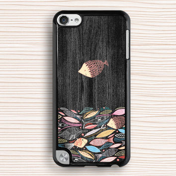 fish school ipod case,art fish ipod 4 case,fish design ipod 5 case,wood grain fish touch 4 case,fish drawing touch 5 case,vivid fish ipod touch 4 case,art fish ipod touch 5 case