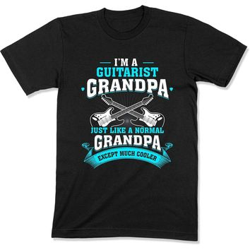 Guitarist Grandpa Regular Grandpa Just Way Cooler - T Shirt - GD-09