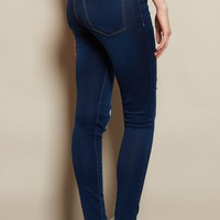 Intense Blue Retro High Waist Super Soft Jegging
