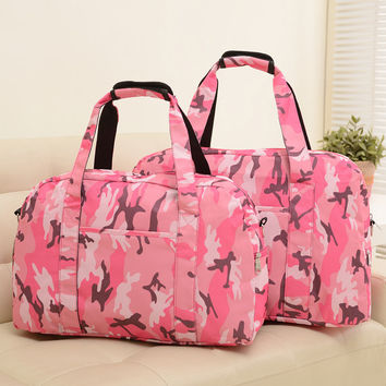 2016 Waterproof Nylon Sport Bag For Women Fitness Sport Bag For Gym Bags Camouflage Shoulder Duffle Beach Travel Bag for female