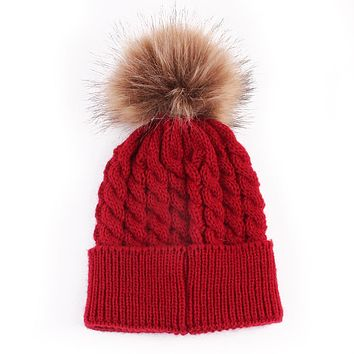 Winter Warm New Cute Baby Toddler Kids Boys Girls Knitted Crochet Beanie Winter Warm Hat Cap