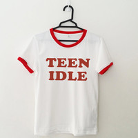 Teen idle t shirt for women mens shirt graphic tee funny cool teenager gifts cute sassy tumblr hipster instagram pinterest polyvore