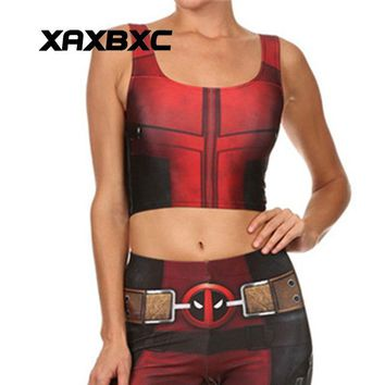 Deadpool Dead pool Taco XAXBXC 002 Summer Sexy Girl Vest Tank Tops  Cospaly  Superhero Prints Slim Fitness Sleeveless Women Cropped Tops AT_70_6