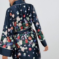 B By Ted Baker Kensington Floral Satin Kimono at asos.com