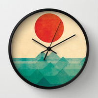 The ocean, the sea, the wave Wall Clock by Budi Satria Kwan