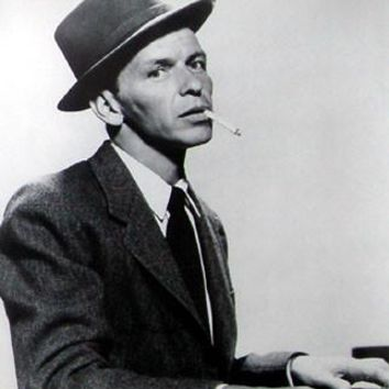 FRANK SINATRA SMOKING PIANO 24X34 poster Metal Sign Wall Art 8in x 12in