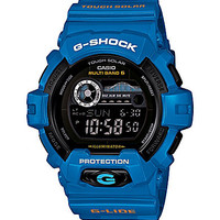G-Shock Bright Blue Digital Watch with Tide Graph - Bright Blue
