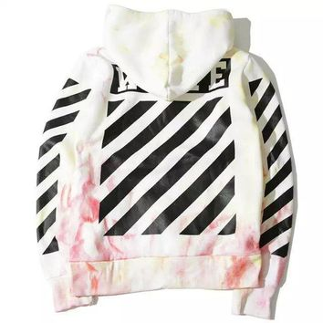 Off White Unisex Hoodies  Stripes Sweater [211452002316]