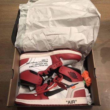 DCCKIN2 Nike x Off White Air Jordan 1 Size UK 9 / US 10 - Virgil Abloh - DEADSTOCK