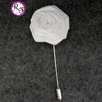 Lapel pin Lapel flower . Rose  flower pin , Bridal accessory ,  groom  buttonhole , white flower  Boutonniere , flower stick  pin