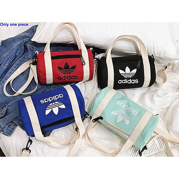 ADIDAS hot seller women's casual shopping bag fashion canvas printed single shoulder duffel bag