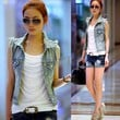 Fashion Women Lady Denim Trench Coat Hoodie Outerwear Jean Jacket Crop Tops Cool