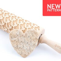 Shiba inu - Embossed, engraved rolling pin for cookies