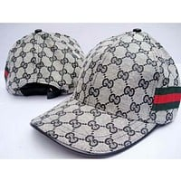 GUCCI autumn and winter trendy hat F-YH-FTMPF Grey