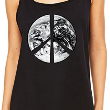 Yoga Clothing for You Womens Relaxed Peace Earth Tank Top