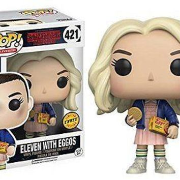 Stranger Things Eleven with Eggos Pop! Vinyl Figure CHASE VARIANT