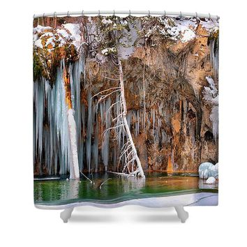 A Spring That Knows No Summer. - Hanging Lake Print - Shower Curtain