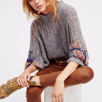 Free People Touch Of Fringe Pullover