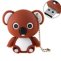 CWP ® High Quality 4 GB Brown KOALA Bear Animal USB Flash drive