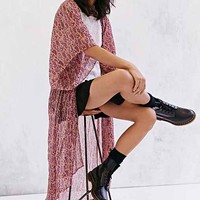 Band Of Gypsies Boho Angel Maxi Kimono Jacket-