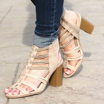 Strappy Sandal with Chunky Heel