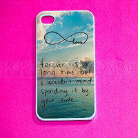 iphone 4 Case, iPhone 4s case - cute Forever love Infinity iPhone 4 Cases, Iphone 4s Cover,Case for iPhone 4