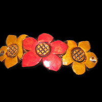 Vintage Hand Carved Barrette, Wooden Barrette, Flower Barrette, Ladies Hair Clip, Hair Holder, Ladies Barrette, Wooden Flowers, Handmade