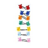 Teddy Bear Hair Ties - Primary