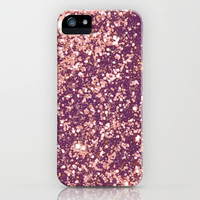 Blurry Copper Sparkle iPhone & iPod Case by RexLambo