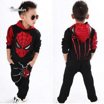 Cool Tonlinker Spiderman Baby Boys Clothing Sets Suit For Boys Clothes Spring Spider Man Costume Cosplay Halloween carnival BirthdayAT_93_12