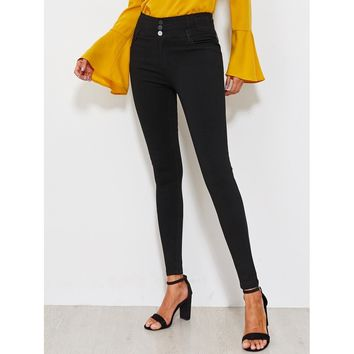 Willing To Wait Classic Skinny Jeans - Black