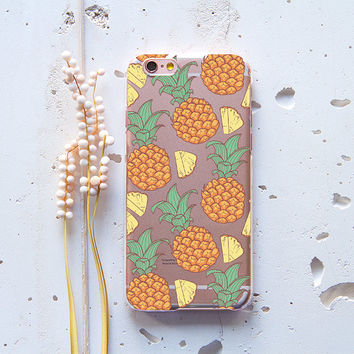 iPhone 6 Case Hipster iPhone SE Case Pineapple Girlfriend Gift iPhone 6s Plus Case Funny iPod Touch 5 Case Samsung Galaxy S4 Clear Case 156